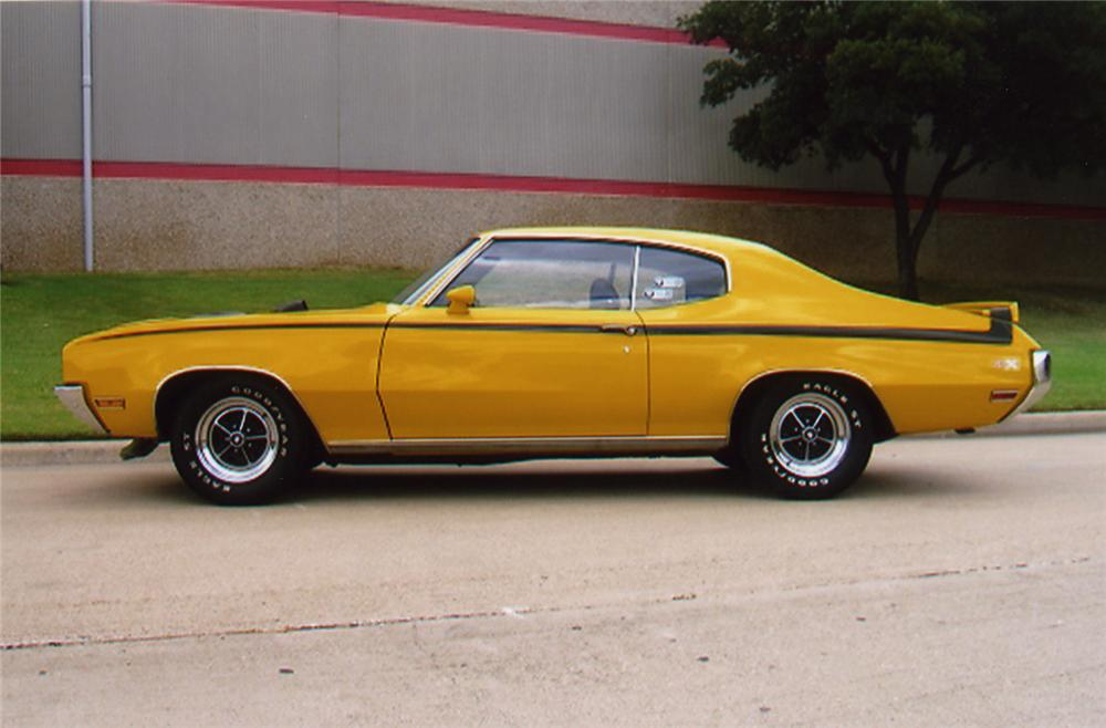 1970 BUICK SKYLARK GS STAGE 1 2 DOOR HARDTOP - Side Profile - 43325