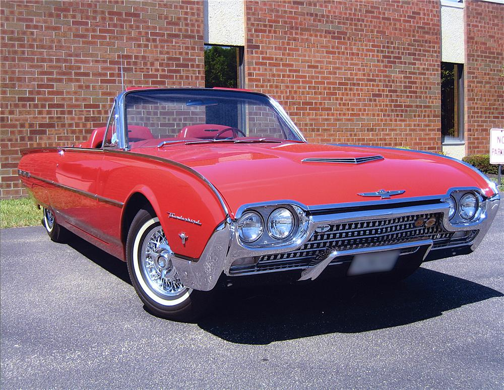 1962 FORD THUNDERBIRD CONVERTIBLE - Front 3/4 - 43331
