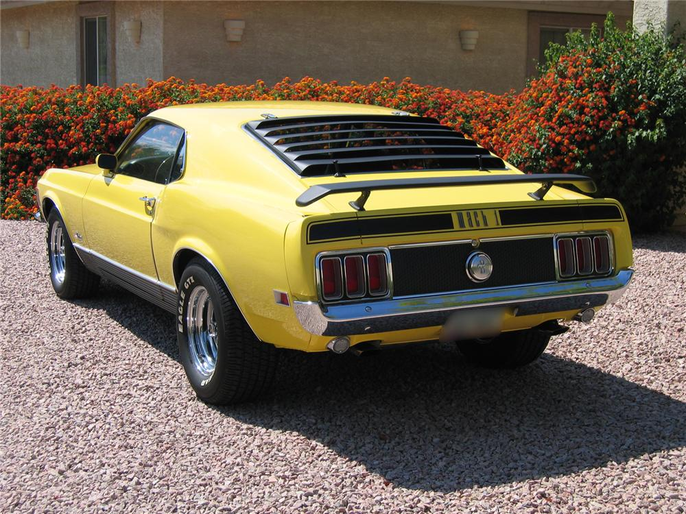 1970 FORD MUSTANG MACH 1 FASTBACK - Rear 3/4 - 43333