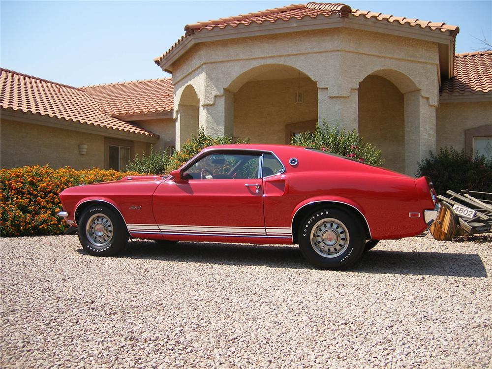1969 FORD MUSTANG GT FASTBACK - Side Profile - 43334