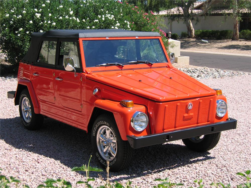 1974 VOLKSWAGEN THING CONVERTIBLE - Front 3/4 - 43341