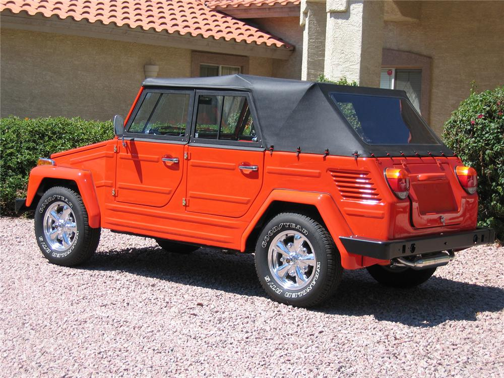 1974 VOLKSWAGEN THING CONVERTIBLE - Rear 3/4 - 43341