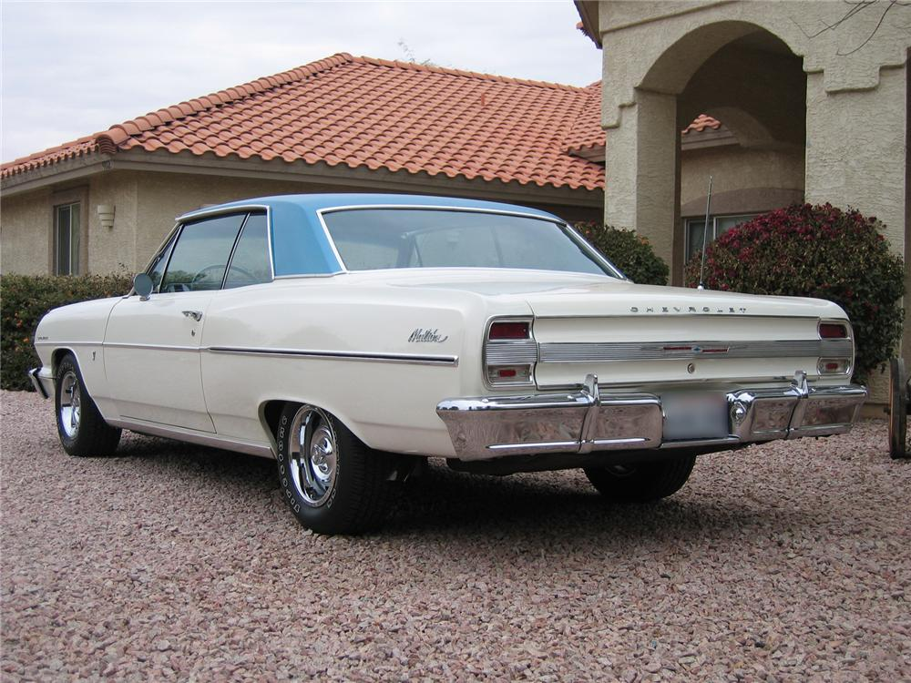 1964 CHEVROLET MALIBU 2 DOOR HARDTOP - Rear 3/4 - 43344