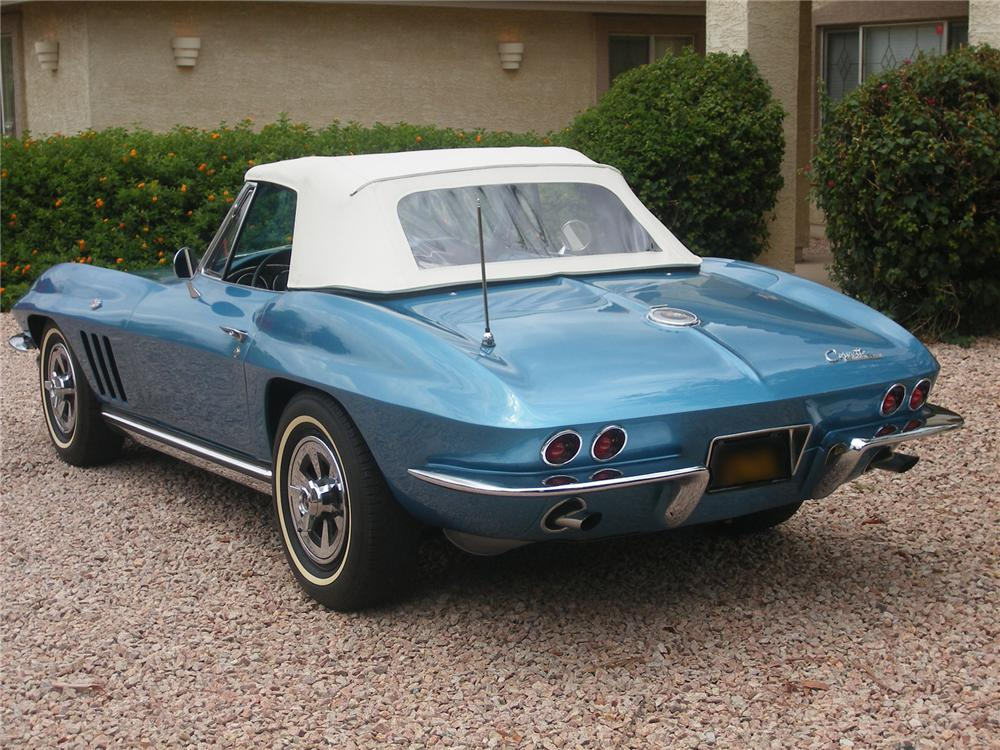 1965 CHEVROLET CORVETTE 327 CONVERTIBLE - Rear 3/4 - 43345