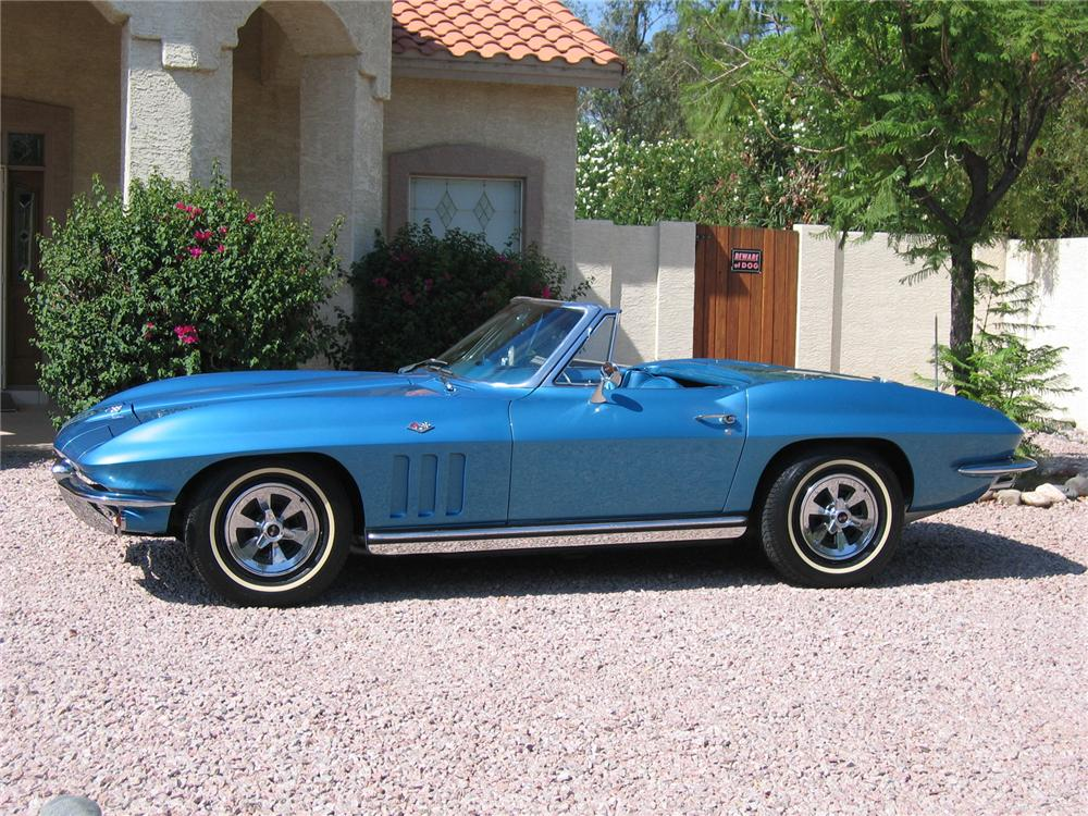1965 CHEVROLET CORVETTE 327 CONVERTIBLE - Side Profile - 43345