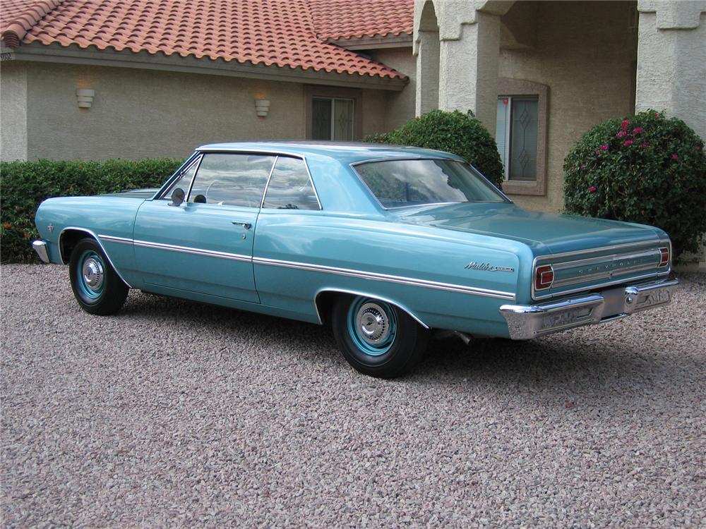 1965 CHEVROLET MALIBU 2 DOOR HARDTOP - Rear 3/4 - 43347