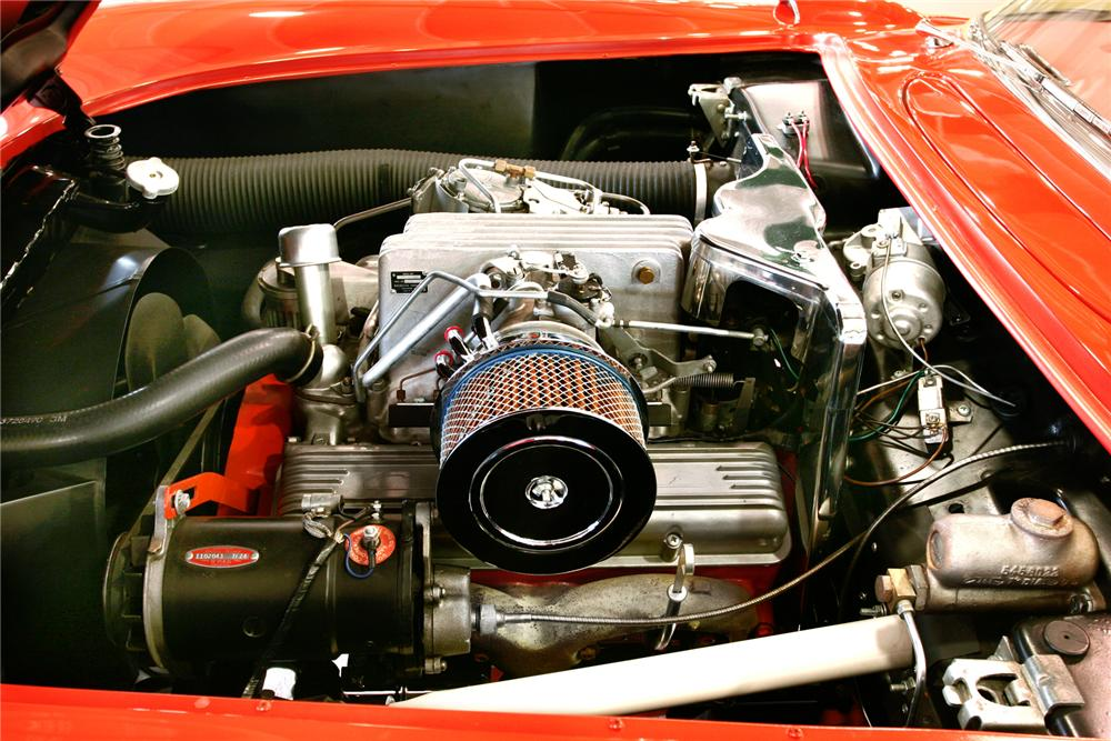 1957 CHEVROLET CORVETTE CONVERTIBLE - Engine - 43378