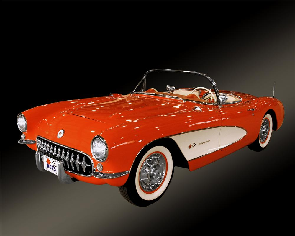 1957 CHEVROLET CORVETTE CONVERTIBLE - Front 3/4 - 43378