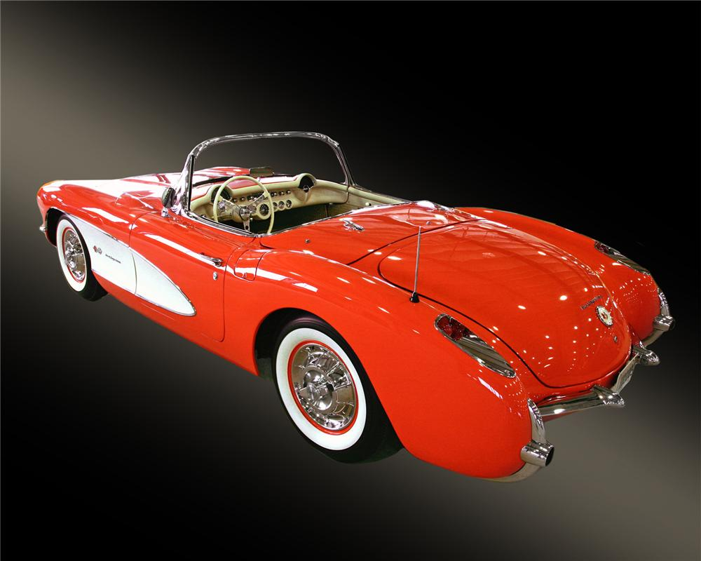 1957 CHEVROLET CORVETTE CONVERTIBLE - Rear 3/4 - 43378
