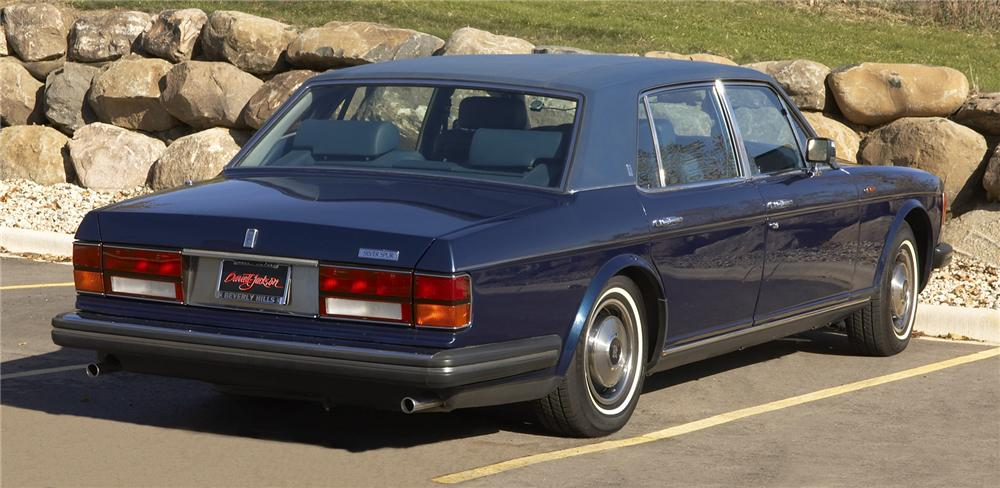 1985 ROLLS-ROYCE SILVER SPUR 4 DOOR SEDAN - Rear 3/4 - 43381