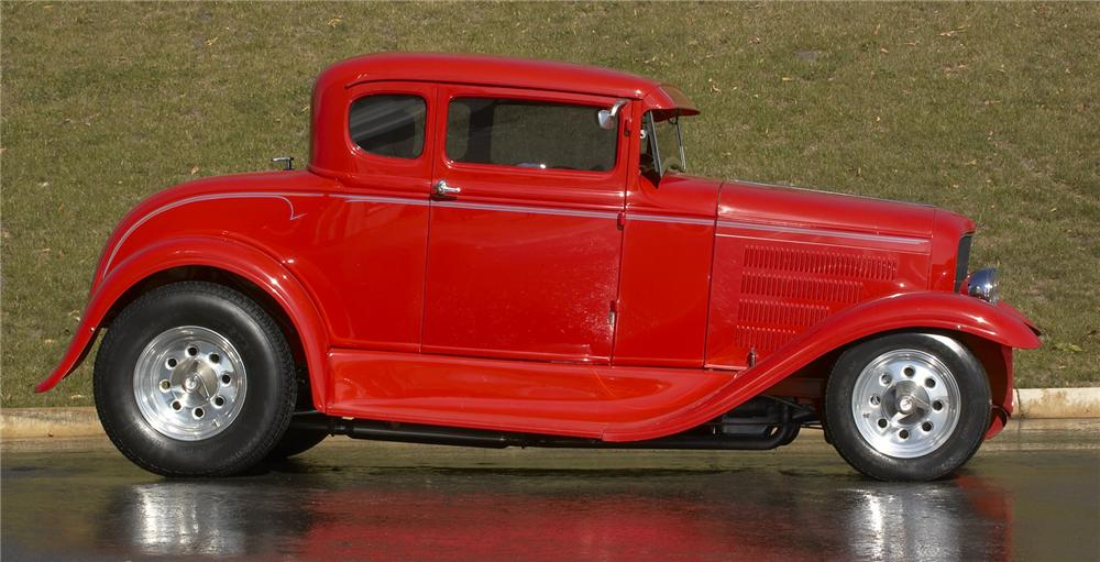 1931 FORD 5 WINDOW CUSTOM COUPE - Side Profile - 43382