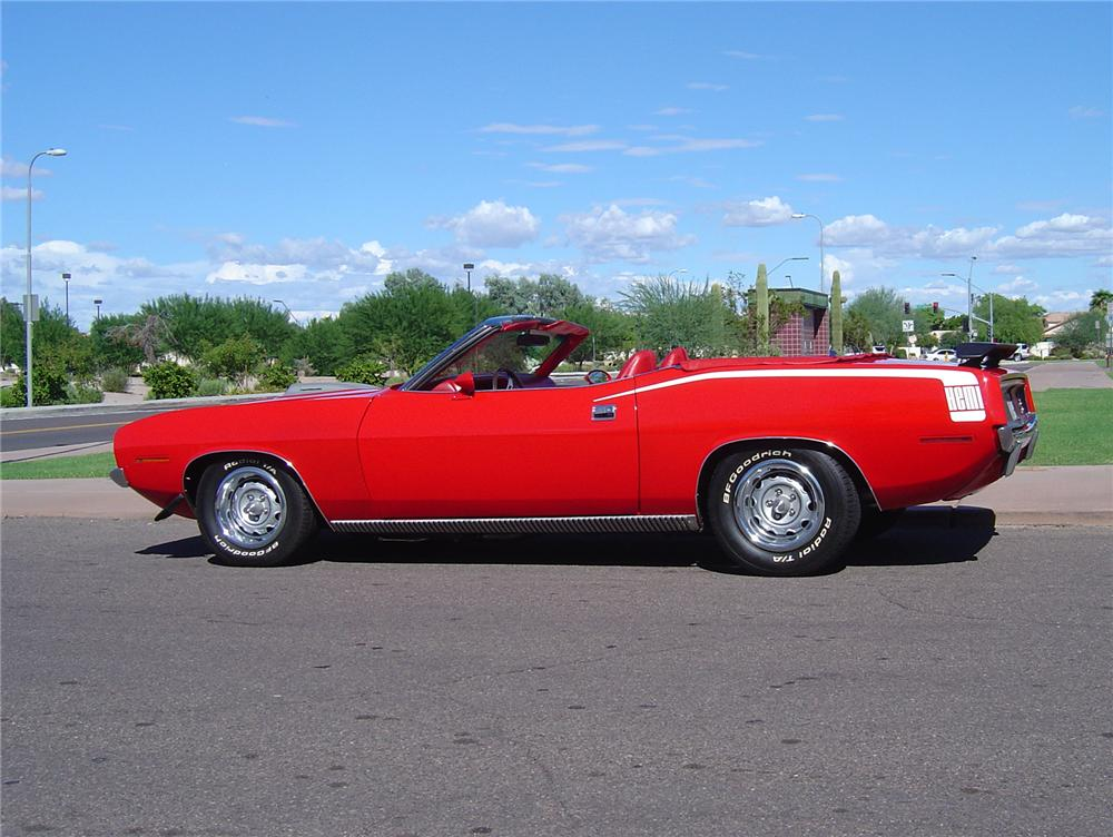 1970 PLYMOUTH HEMI CUDA CONVERTIBLE RE-CREATION - Side Profile - 43434