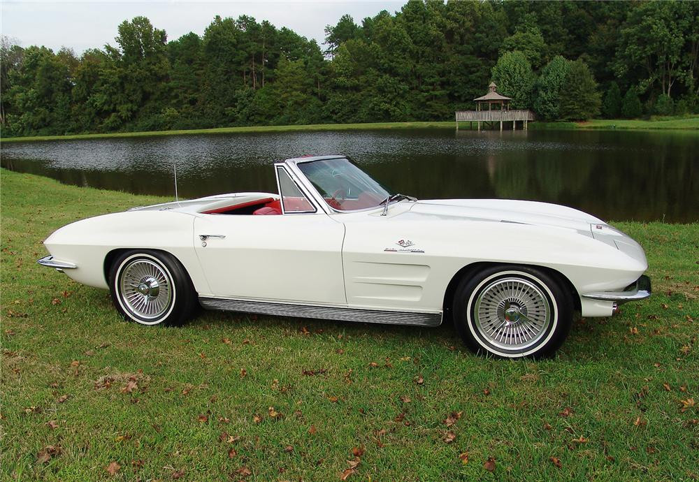 1963 CHEVROLET CORVETTE CONVERTIBLE - Side Profile - 43471