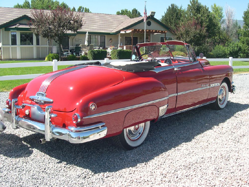 1951 PONTIAC CHIEFTAIN CONVERTIBLE - Rear 3/4 - 43472