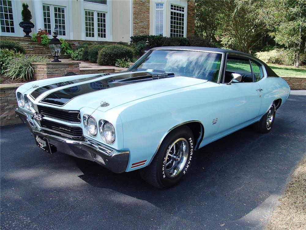 1970 CHEVROLET CHEVELLE SS 396 2 DOOR COUPE - Front 3/4 - 43476