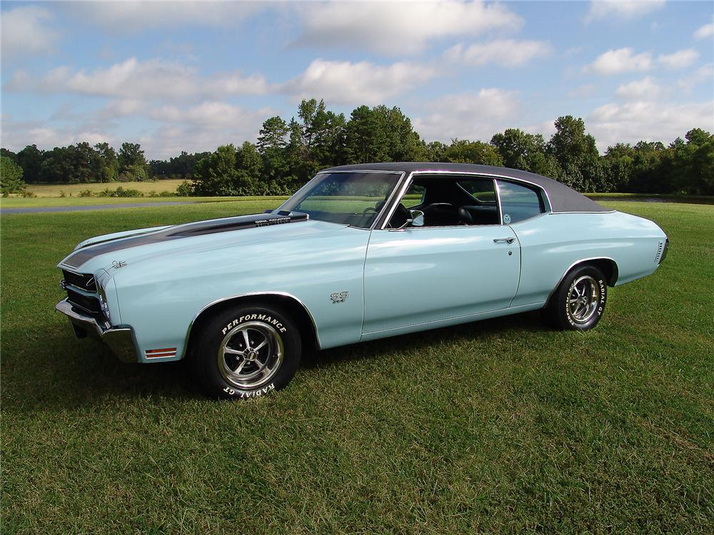 1970 CHEVROLET CHEVELLE SS 396 2 DOOR COUPE - Side Profile - 43476