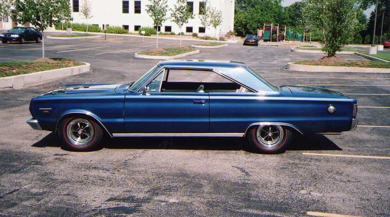 1967 PLYMOUTH GTX 2 DOOR HARDTOP - Side Profile - 43484
