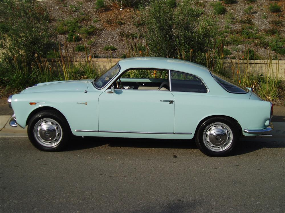 1961 ALFA ROMEO GIULIETTA SPRINT 2 DOOR COUPE - Side Profile - 43486