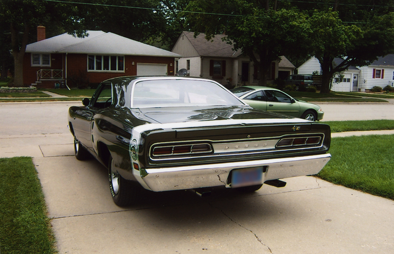 1969 DODGE SUPER BEE 2 DOOR COUPE - Rear 3/4 - 43493