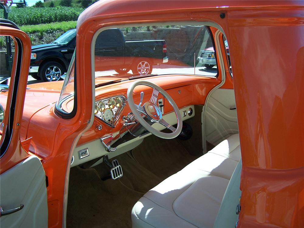 1955 CHEVROLET 3100 CUSTOM PICKUP - Interior - 43496