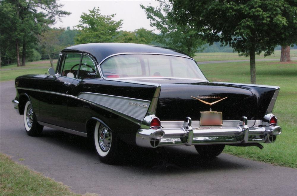 1957 CHEVROLET BEL AIR COUPE - Rear 3/4 - 43500