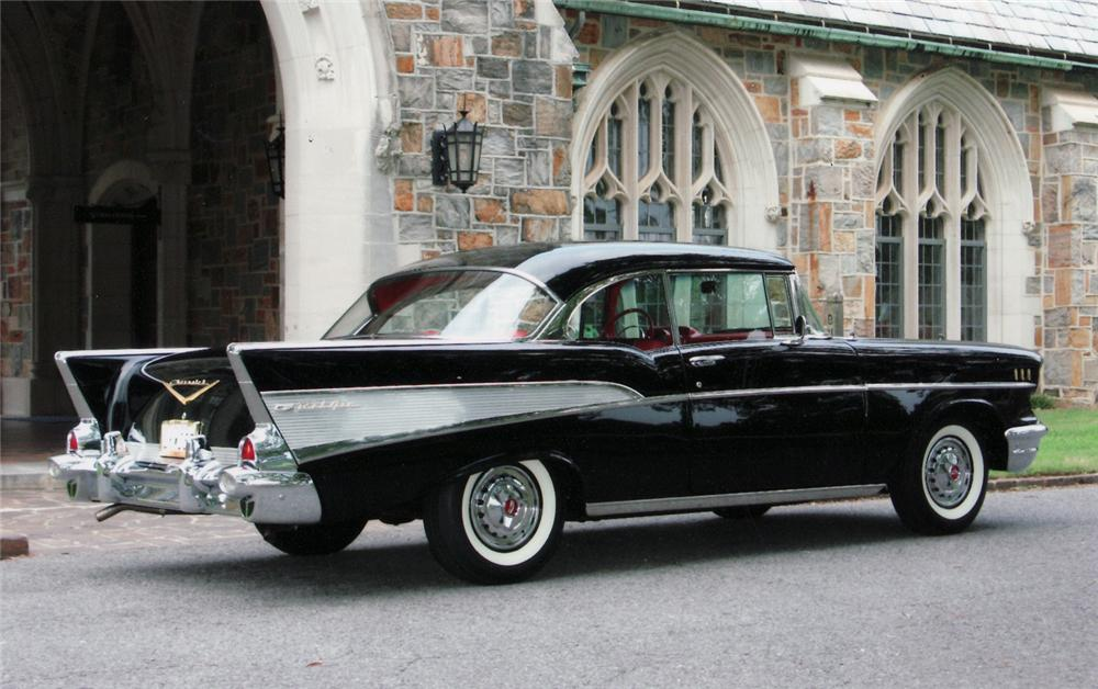 1957 CHEVROLET BEL AIR COUPE - Side Profile - 43500
