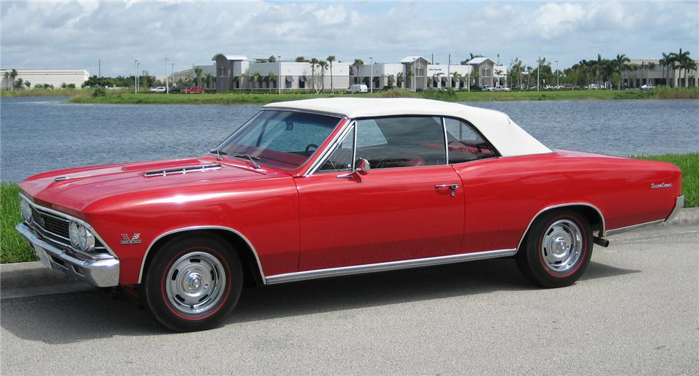1966 CHEVROLET CHEVELLE SS 396 CONVERTIBLE - Front 3/4 - 43507