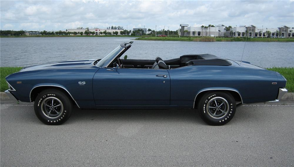 1969 CHEVROLET CHEVELLE L89 CONVERTIBLE - Side Profile - 43511