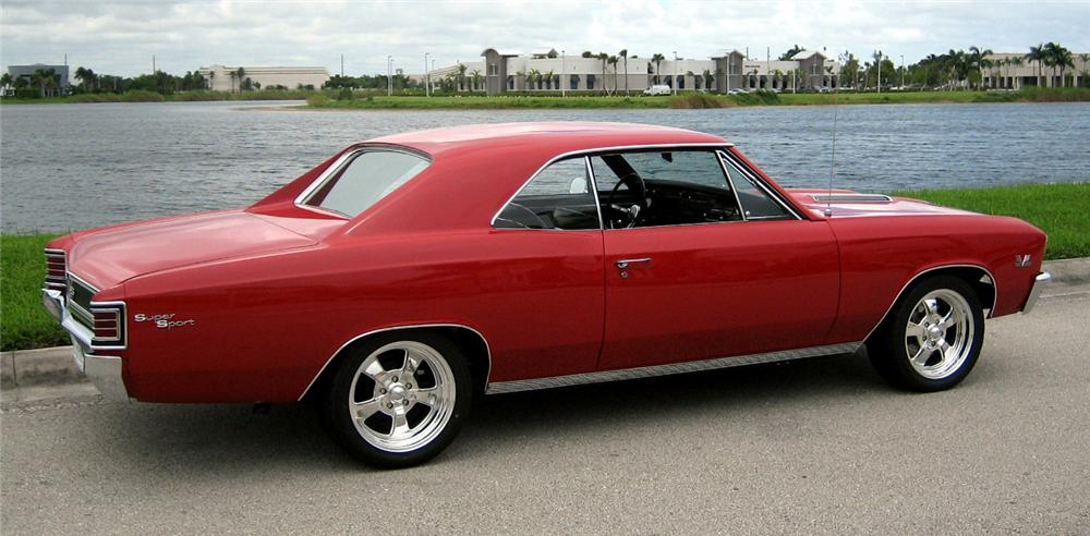 1967 CHEVROLET CHEVELLE SS 396 2 DOOR HARDTOP - Side Profile - 43514