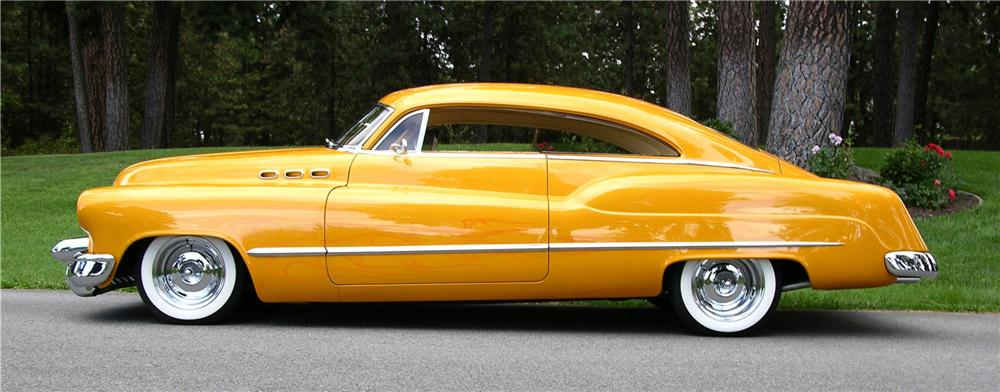 1950 BUICK CUSTOM 2 DOOR SEDANETTE - Side Profile - 43516