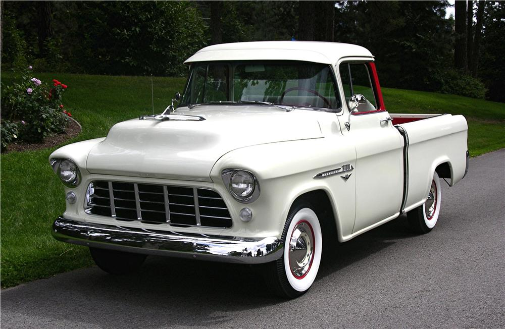 1955 CHEVROLET CAMEO PICKUP - Front 3/4 - 43520