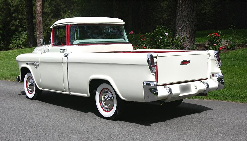 1955 CHEVROLET CAMEO PICKUP - Rear 3/4 - 43520