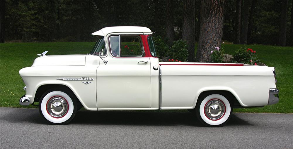 1955 CHEVROLET CAMEO PICKUP - Side Profile - 43520