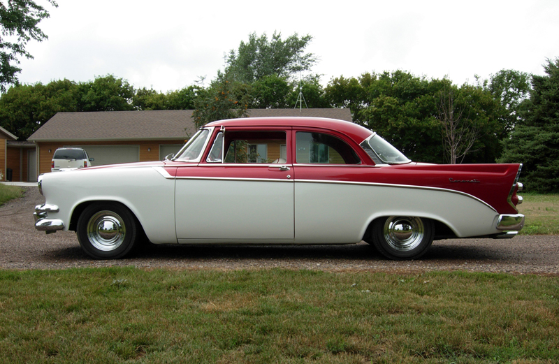 1956 DODGE CORONET D-500 2 DOOR SEDAN - Side Profile - 43542