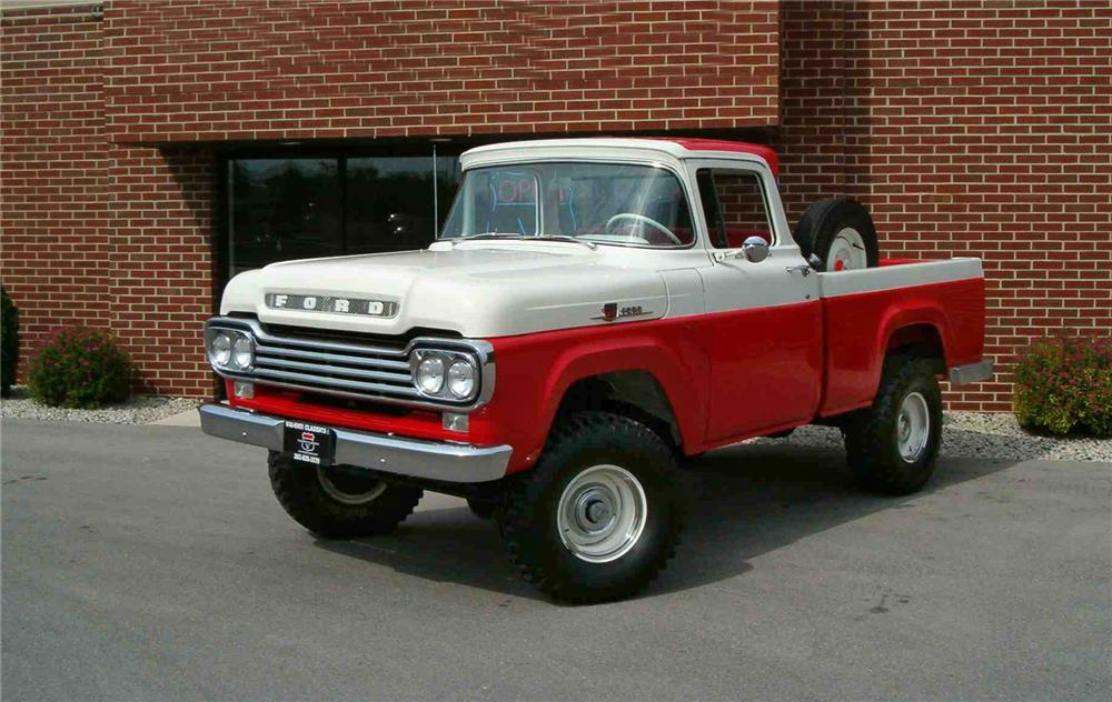 1959 FORD F-100 4X4 PICKUP - Front 3/4 - 43548