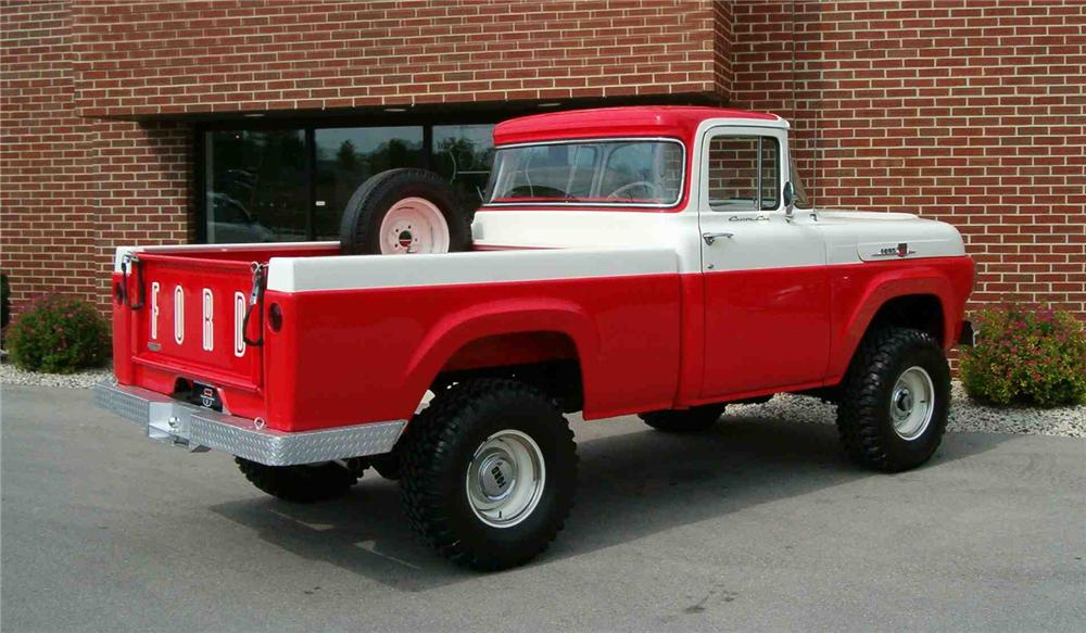 1959 FORD F-100 4X4 PICKUP - Rear 3/4 - 43548