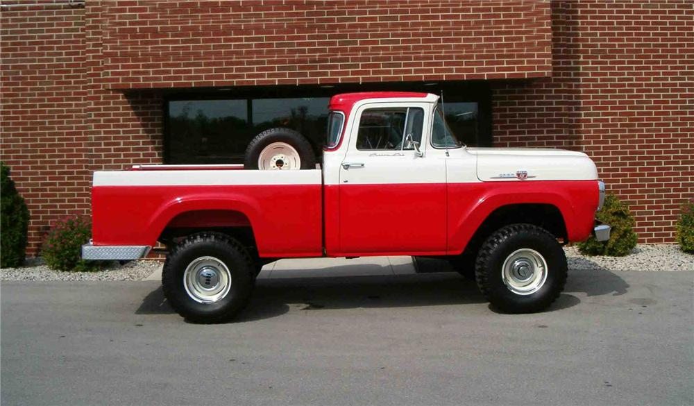 1959 FORD F-100 4X4 PICKUP - Side Profile - 43548