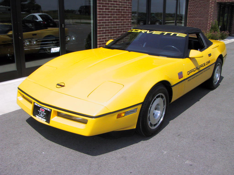 1986 CHEVROLET CORVETTE CONVERTIBLE - Front 3/4 - 43552