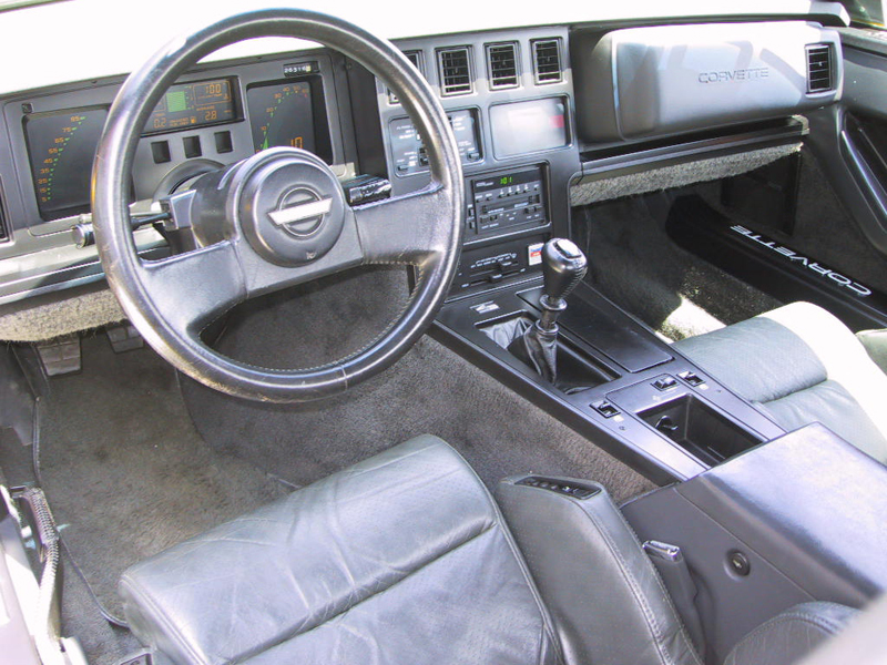 1986 CHEVROLET CORVETTE CONVERTIBLE - Interior - 43552