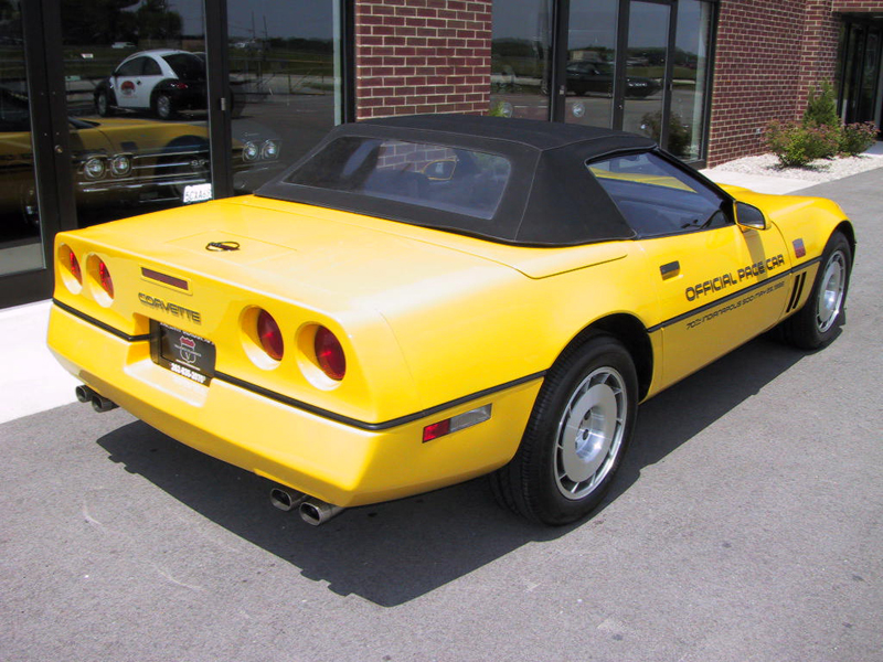 1986 CHEVROLET CORVETTE CONVERTIBLE - Rear 3/4 - 43552