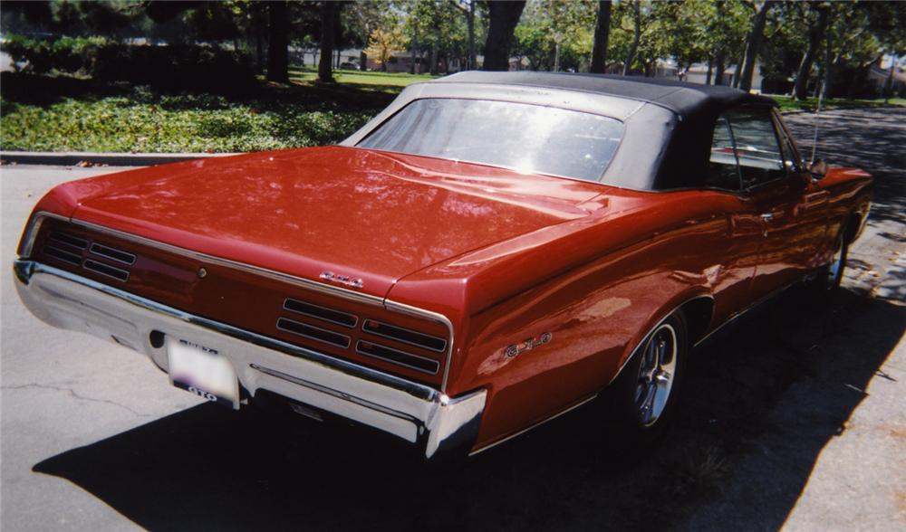 1967 PONTIAC GTO CONVERTIBLE - Rear 3/4 - 43553