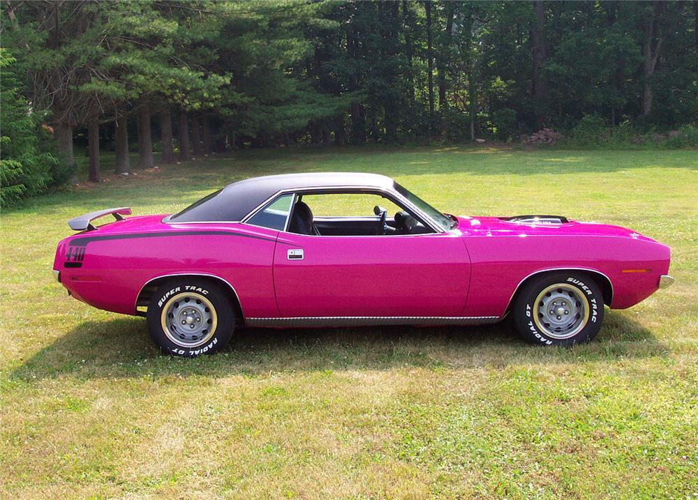 1970 PLYMOUTH CUDA COUPE - Side Profile - 43590