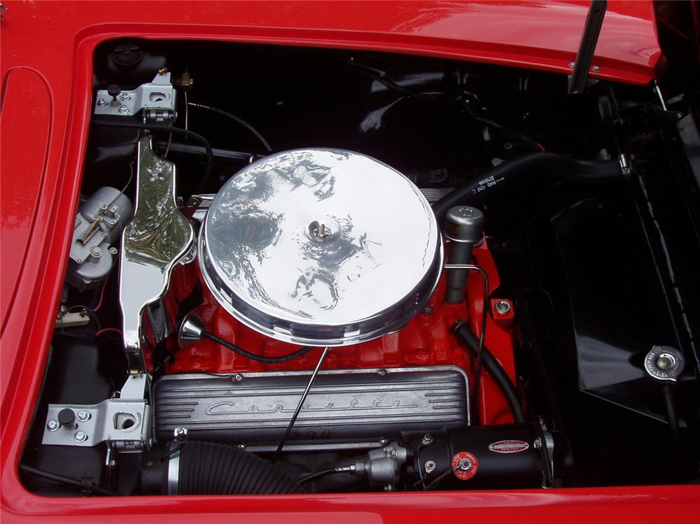 1958 CHEVROLET CORVETTE CONVERTIBLE - Engine - 43591