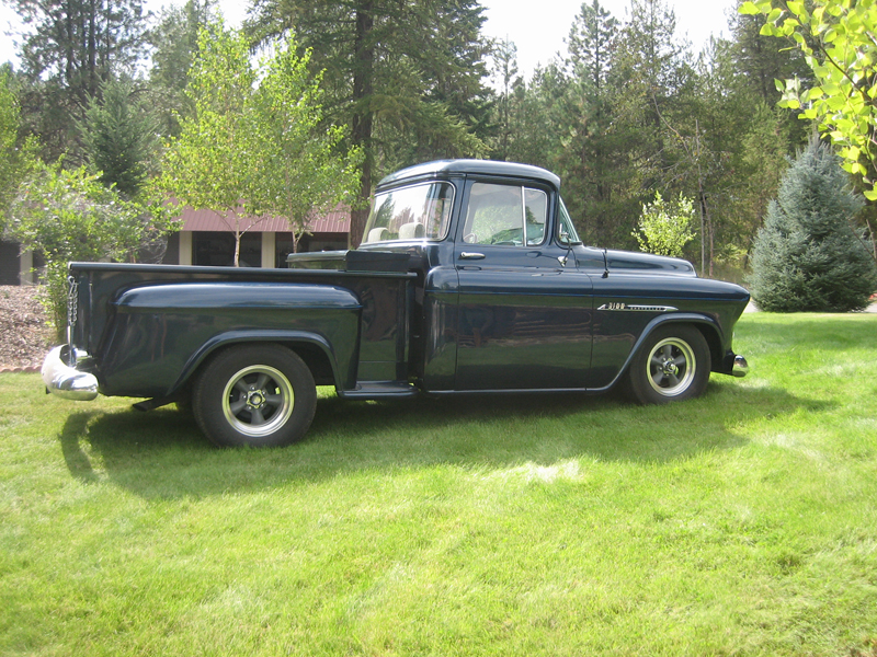 1955 CHEVROLET 1500 CUSTOM PICKUP - Side Profile - 43613