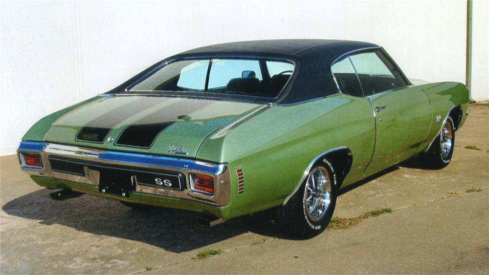1970 CHEVROLET CHEVELLE SS 396 2 DOOR HARDTOP - Rear 3/4 - 43630