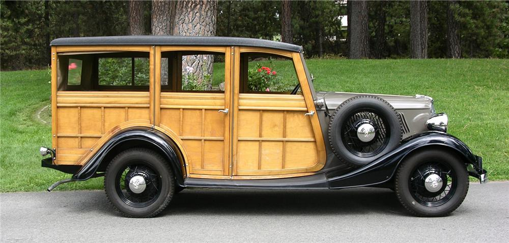 1933 FORD WOODY STATION WAGON - Side Profile - 43632
