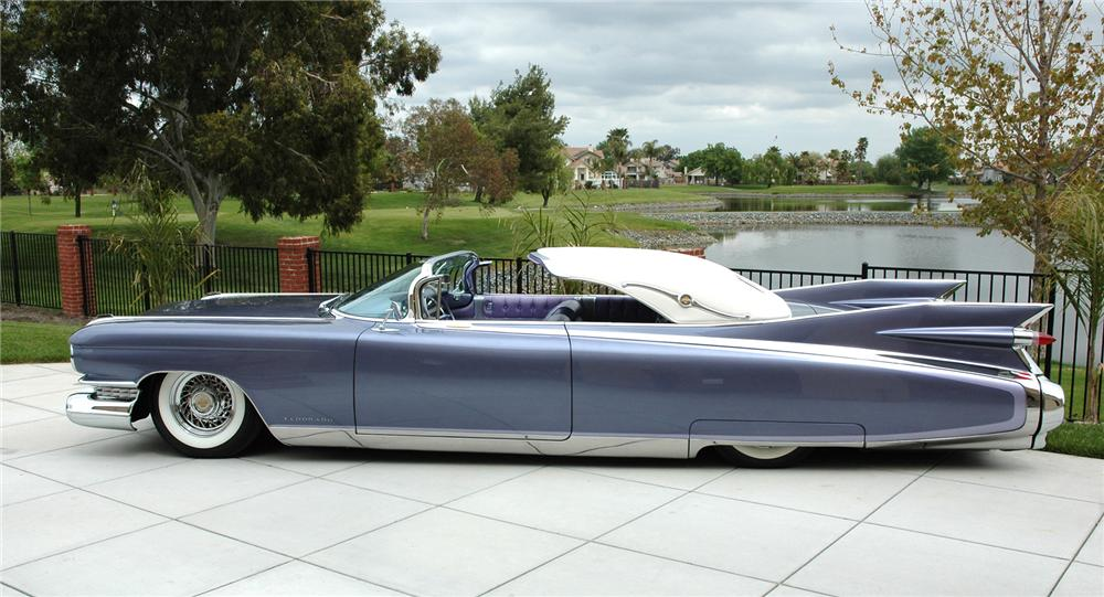 1959 CADILLAC ELDORADO CUSTOM SEVILLE CONVERTIBLE - Side Profile - 43636