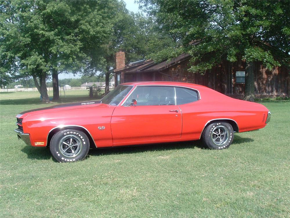 1970 CHEVROLET CHEVELLE LS6 SS 2 DOOR HARDTOP - Side Profile - 43639