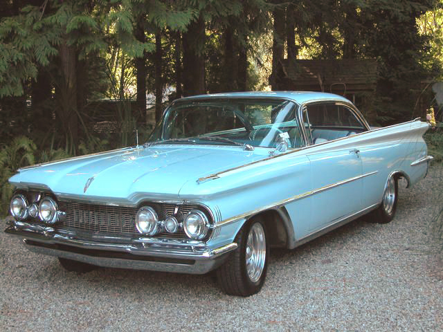 1959 OLDSMOBILE 98 2 DOOR BUBBLE TOP - Front 3/4 - 43653