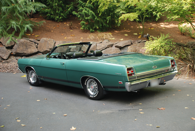 1969 FORD TORINO GT CONVERTIBLE - Rear 3/4 - 43660